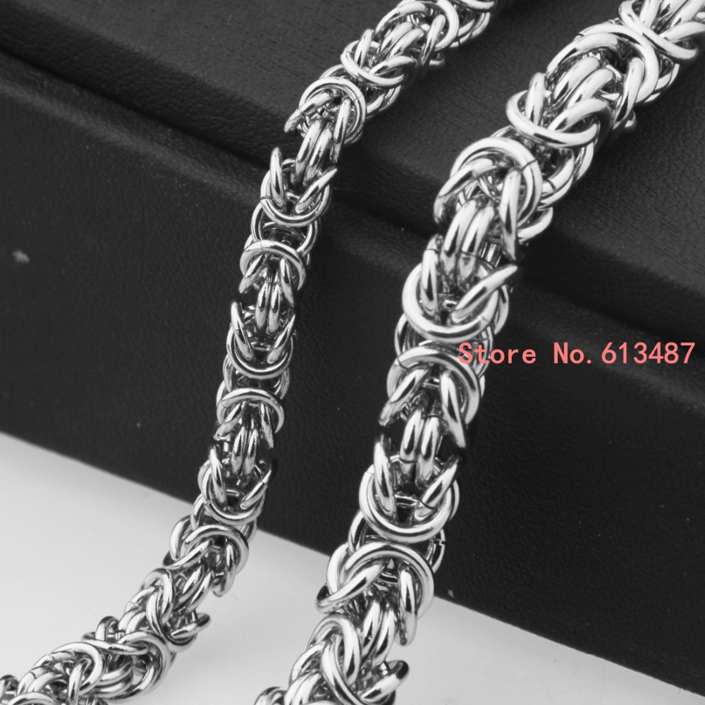price necklace length gold wholesale silver chains byzantine stainless steel polish chain width