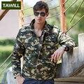 TAWILL Новый 2016 Камуфляж Военные Куртки и Пальто Осень army Air force one мужская куртка Одежда Азиатский размер 832