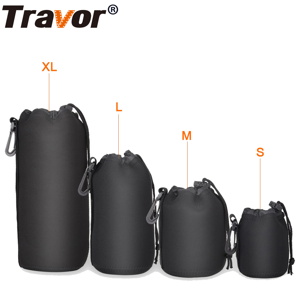 Travor Waterproof Padded Protector Camera Lens Bag Case Pouch for Canon Nikon Pentax Sony Olympus Panasonic Lens size S M L XL adjustable pro safety equestrian horse riding vest eva padded body protector s m l xl xxl for men kids women camping hiking