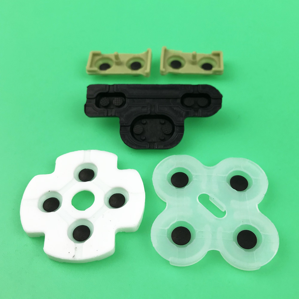 Image 3 - 2 10sets For ps3 Controller conductive rubber for Playstation 3 Soft Rubber Silicon Conductive Button Pad Replacement-in Replacement Parts & Accessories from Consumer Electronics