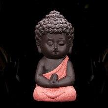 Горячая керамическая фигурка маленького монаха, домашний декор, статуя Будды, фигурки, украшение для автомобиля, гостиной, чайный домик, TI99