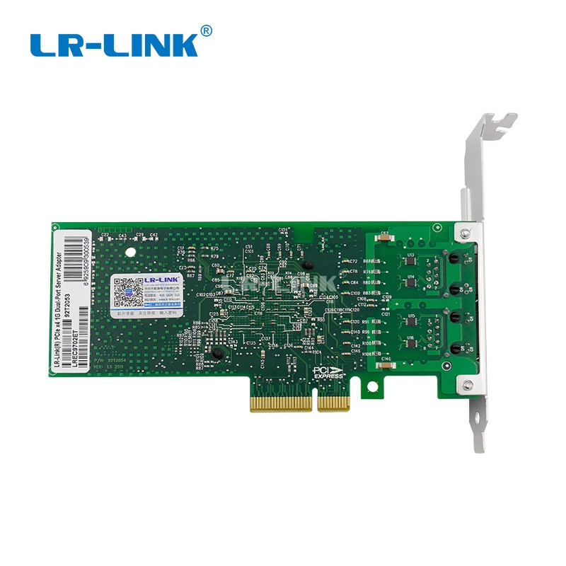 Image 4 - LR LINK 9702ET Dual Port PCI Express Network Card 1gb Gigabit Ethernet Network Adapter Server Intel 82576 E1G42ET Compatible NIC-in Networking Storage from Computer & Office