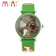 2017 MINI Kids Reloj Niños Reloj de La Manera Linda Simple Muchachas de Corea Impermeable Reloj