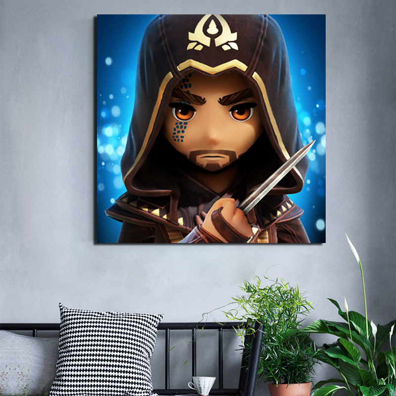 Assassins Creed Rebellion Aguilar Canvas Painting Living Room Home Decoration Modern Wall Art Oil Painting Posters Pictures Art in Painting Calligraphy from Home Garden