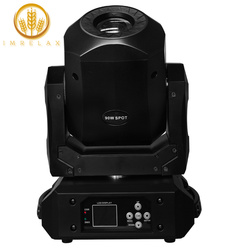 Imrelax New 90w Led Spot Moving Head Light Fast Silent 3 Facet Prism Clear Rotating Gobo Led Moving Head Spot Dj Disco Light Cheap Sales 50% Commercial Lighting Lights & Lighting