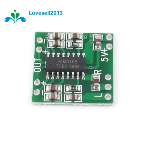US $1 95 |10Pcs 2x3W Dual Channel Mini Digital Power Amplifier Board  PAM8403 For Arduino Class D Stereo Audio Amplifier Module 5V Power-in  Replacement