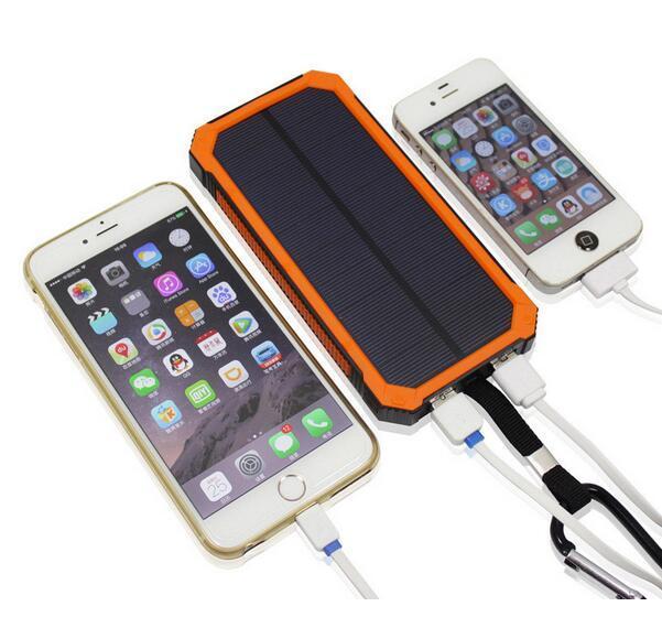 Comprar dos 10% de descuento 50000 mAh Solar Power Bank Cargador de Batería Dual USB Para El Teléfono Móvil PDA MP3