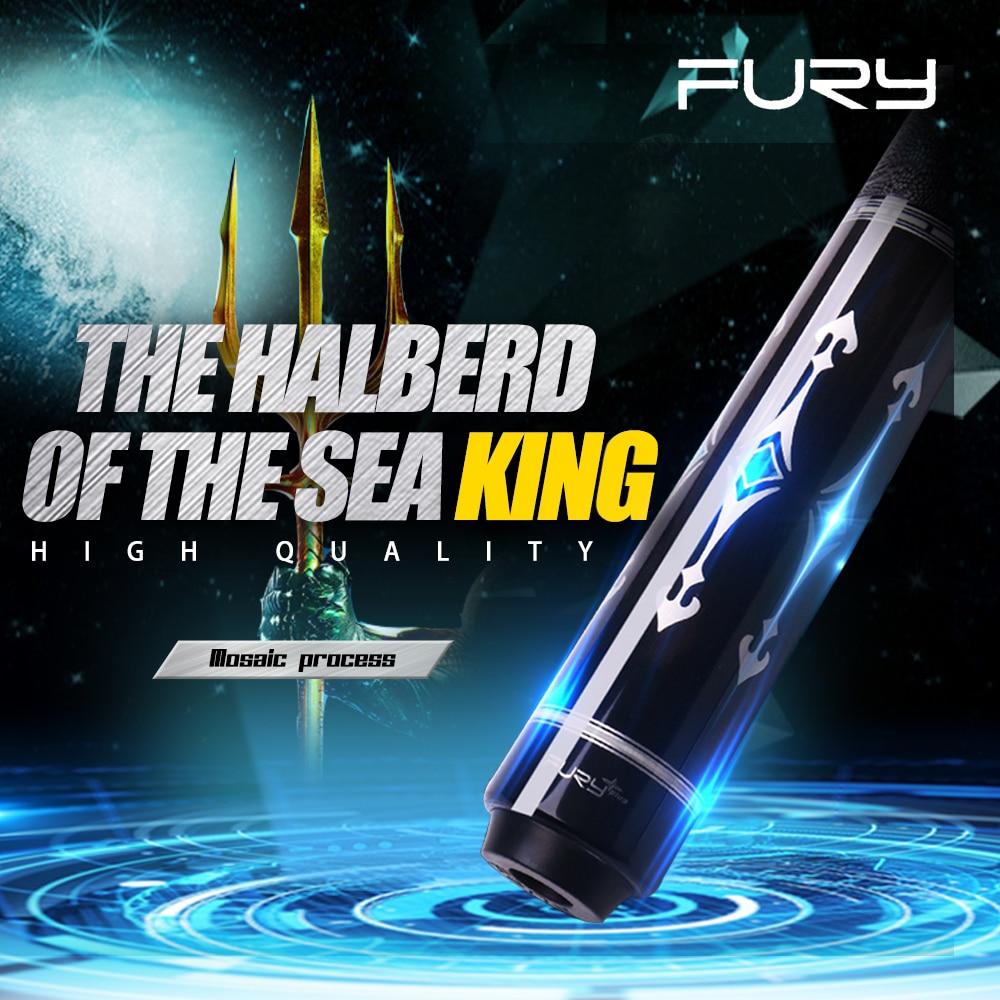 Fury pool cue vara kit taco de bilhar com caso 12.75mm original tecnologia ponta kamui maple eixo halberd do mar rei kit