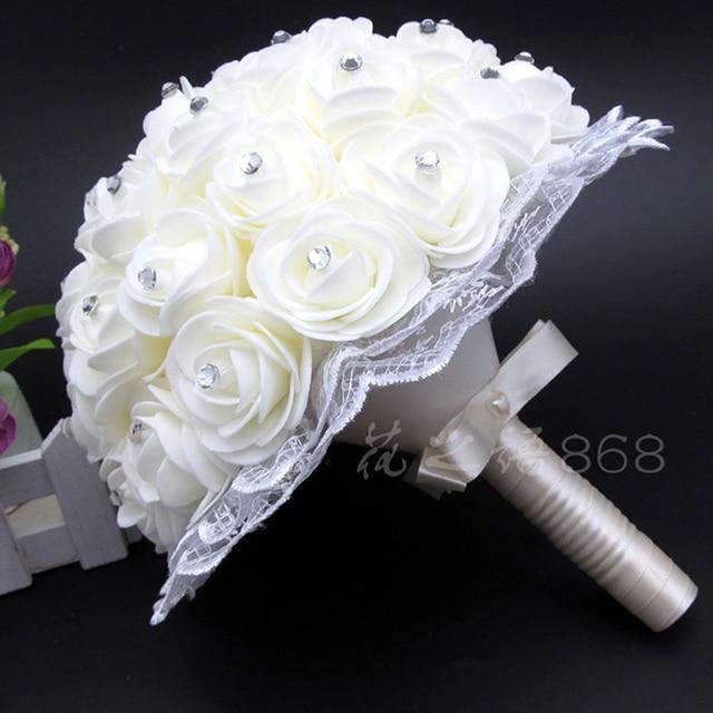 Beautiful White Ivory Bridal Bridesmaid Flower wedding bouquet ...