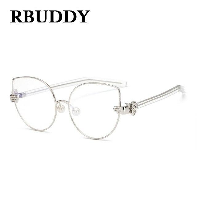 Tienda Online RBUDDY cat eye Vidrios Claros mujeres Hipster shand ...