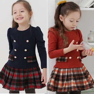 female child  spring and fall  children's clothing ,100% cotton clothes, princess dress one-piece dress.