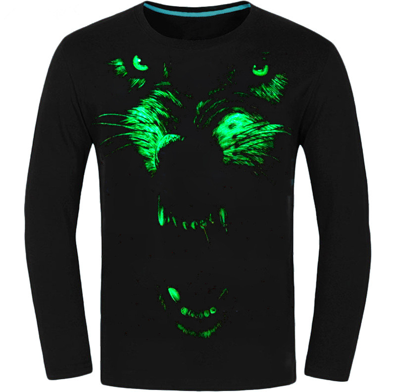 T the dark shirts in print for glow made
