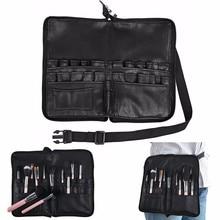 Fashion Makeup Brush Bag Case Apron 28 Pockets With Belt Strap Holder Cosmetic Brush Storage Organizer Box Beauty Artist Tool