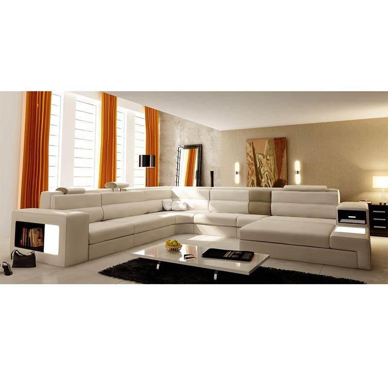 Swell Us 1936 0 Hot Sale German Style Living Room Furniture Leather Led Light Sectional Sofa With Storage In Living Room Sofas From Furniture On Home Remodeling Inspirations Cosmcuboardxyz