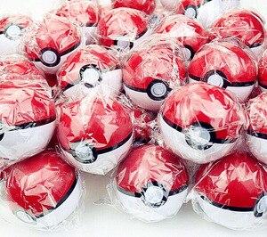 Image 1 - 20/pcs  PokeBalls Action & Toy Figures 7cm balls +20pcs figur Random Mini Figures Inside Anime Action & Toy Figures for Children