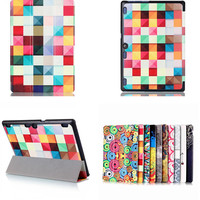 CY Colorful Magnet PU Leather Case Flip Cover For Lenovo Tab3 10 For Business TB3 X70F