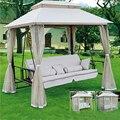 MSY-612 многофункциональная уличная мебель открытый Трехместный качели диван шезлонг Водонепроницаемый солнцезащитный шезлонг открытый пля...