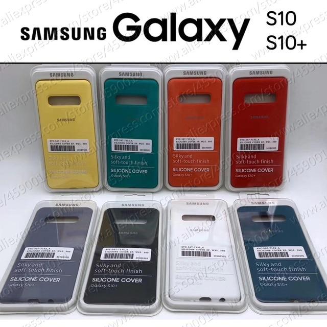 Bottom Closed Made in China Samsung Galaxy S10 Case Original Style S10e S10+ Plus Silicone Cover
