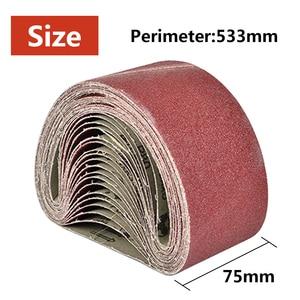 Image 3 - 533X75Mm Schuurbanden 80 320 Grits Schuurpapier Schurende Bands Voor Sander Power Rotary Gereedschap Dremel Accessoires slijptol