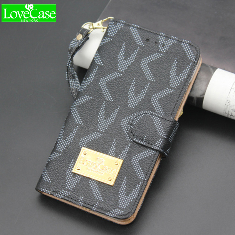 LOVECASE Pour Galaxy S7 de luxe flip phone wallet pour Galaxy S6 S6 Bord S8 s8Plus note9 note8 S9plus carte style téléphone cas sacs