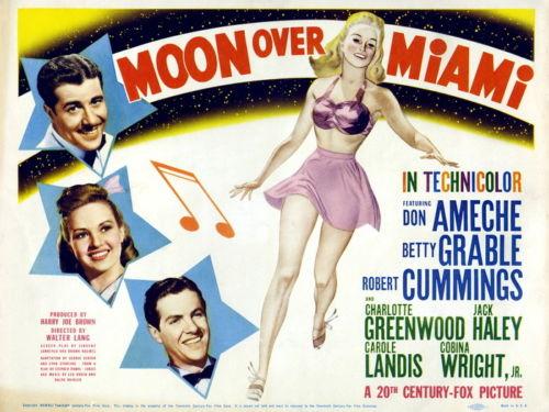 5577 Moon Over Miami 1941 Retro Movie Vintage Wall Sticker Art ...