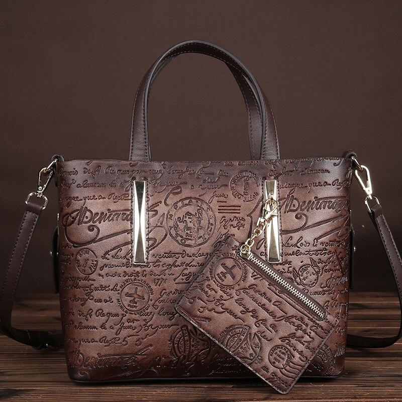 Nouveauté femmes PVC en relief sac à bandoulière sac à bandoulière dames sacs à bandoulière de luxe Badges et lettres impression fourre-tout sac à main avec sac à main