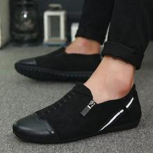 POPIGIST 2018 New fashion comfortable men Red casual shoes Men Flats Shoes Moccasins Loafers