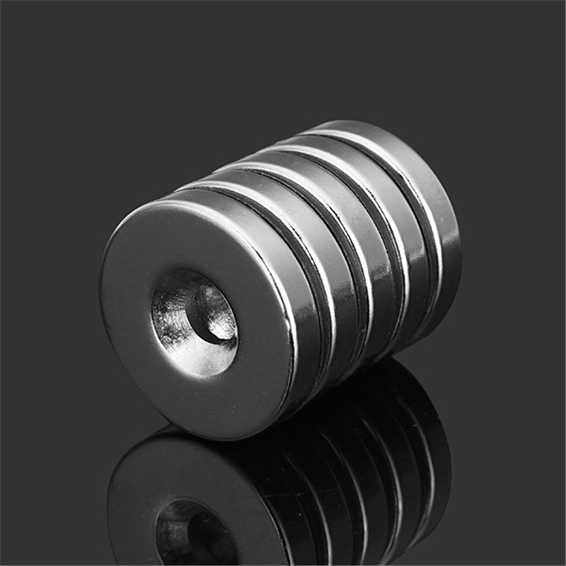 5pcs N35 25mm x 5mm Strong Disc Neodymium Magnets Round NdFeB Magnets With 6mm Hole New diy 5mm round neodymium magnets purple 216 pcs