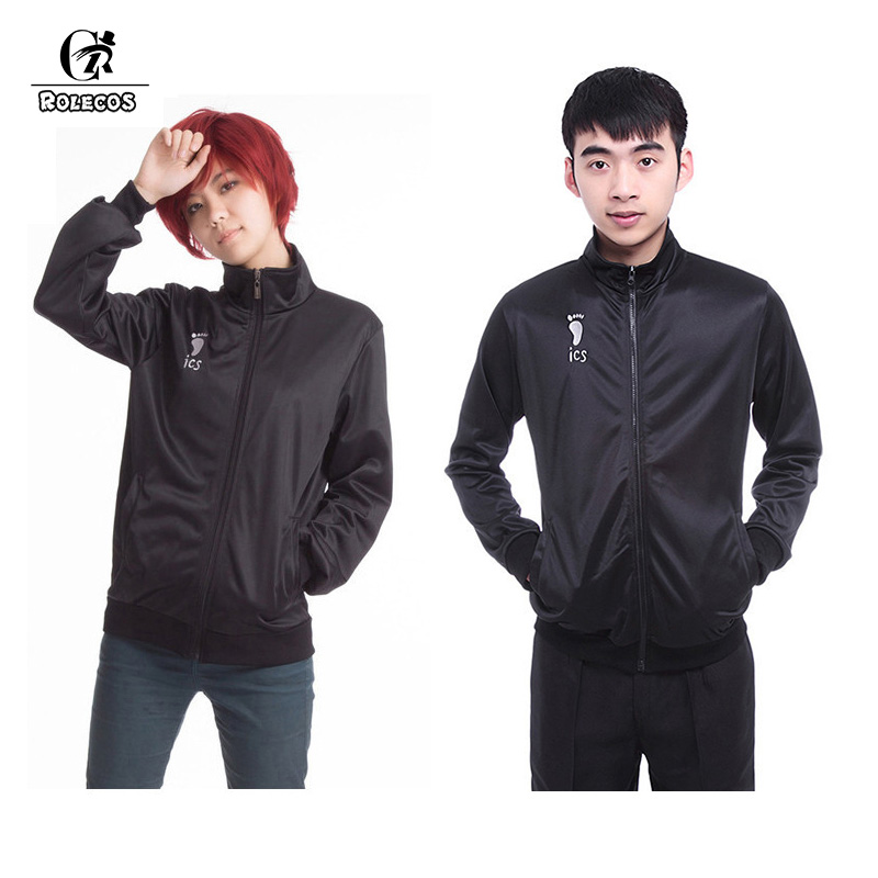 Anime Haikyuu Men Chaqueta de uniforme Karasuno High School Volleyball Club Cosplay Disfraces Ropa masculina Barco de alta calidad de EE.