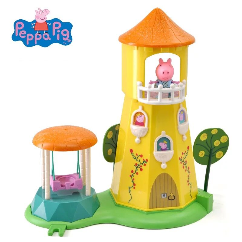 Genuine PEPPA PIG 06174 Princess Peppa's Rose Garden and Tower Playset kids toy gift free shipping