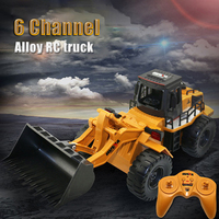 New RC Trucks 1:18 2.4GHz 6CH RC Alloy Truck Construction Vehicle Toy RC Bulldozer Engineering Car RC Toys Gifts for Kids Boys