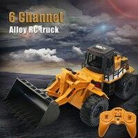 Yeni RC Kamyon 1:18 2.4 GHz 6CH RC Alaşım Kamyon Inşaat Araç oyuncak RC Buldozer Mühendislik Araba RC Oyuncaklar Hediyeler Çocuklar için Boys