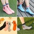 Hot 5 Par/set Femenina 3D en forma de corazón/de la raya/5 Colores de Lana de Conejo Calcetines de Las Mujeres lindas calcetín Cómodo para Señora girls