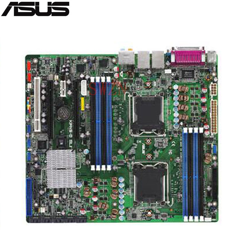 original Used Server motherboard For Asus KFN5-D SLI Socket F Maximum 4*DDR2 8GB 4xSATAII ATX fluffy synthetic lolita curly flax mixed gold long side bang capless cosplay wig for women