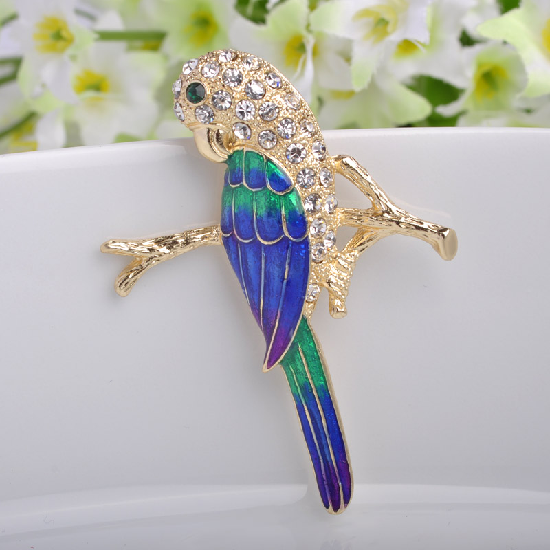 Rhinestone Pin Brooch Children Jewelry Fashion Women Enamel Broaches Crystal brooches jewelry Women's Broches Hijab Pins Joias