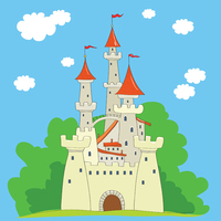 Thin Fabric Cloth Printed Photography Background Children S Castle Backdrop 5ft X 7ft D 741
