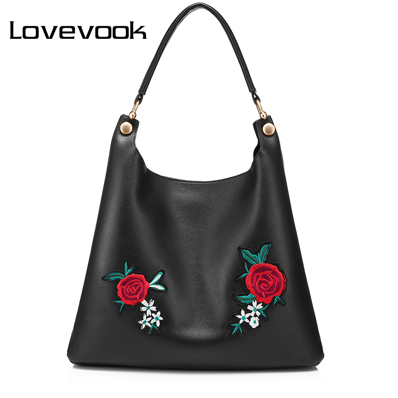 LOVEVOOK retro handbag female shoulder messenger bags for women 2017 crossbody shopping bag high quality PU with Embroidery tote lovevook shoulder messenger bags for women crossbody bag pu female small handbag and purse with tassel fashion zippers designer