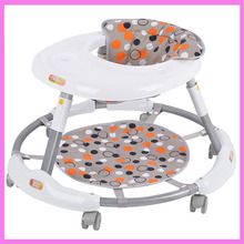 Free Installation Infant Folding Portable Baby Walker with Wheels Walking Aid Assistant Adjustable Baby Carriage Mute Wheels