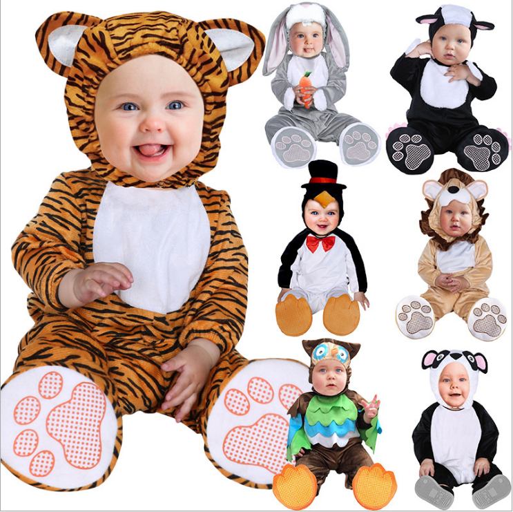 Halloween Costume Spring Autumn Lion Monkey Panda Rabbit Romper Clothing Jumpsuit Animal Baby Newborn Clothing Set brand infants costume series animal clothing set lion monster owl cow clasp elephant kangroo baby cosplay cute free shipping page 1