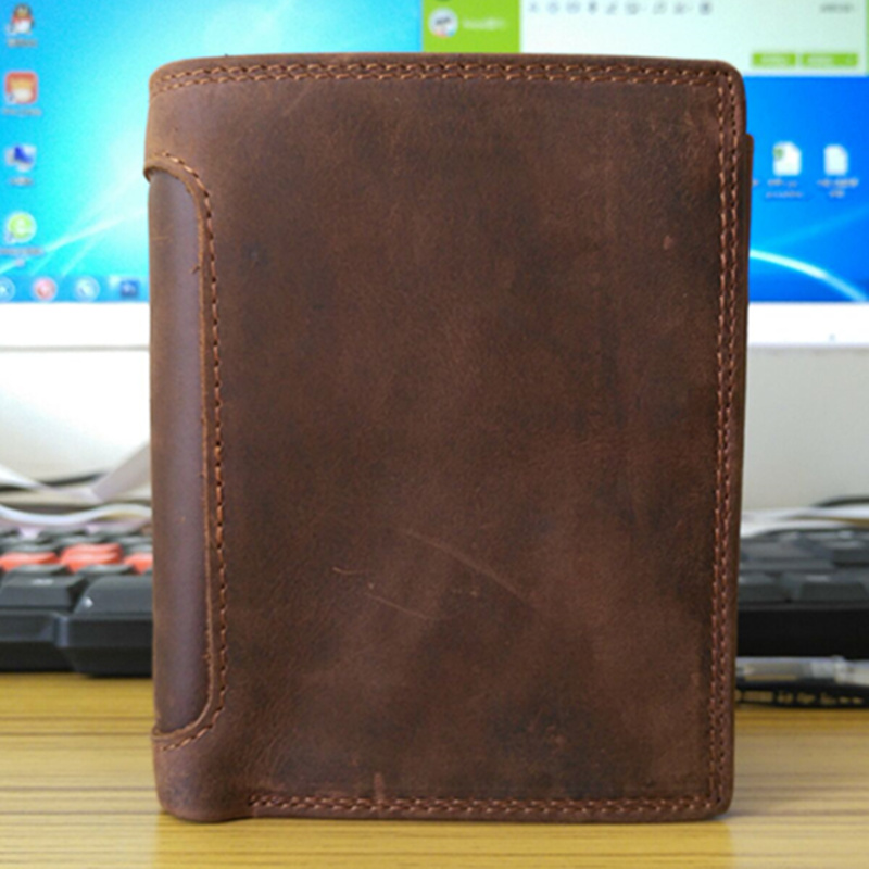 NEWEEKEND 5230 Retro Genuine Leather Cowhide Vertical Zipper Short Thick Solid Cash Card Coin Photo Wallet Purse Pocket for Man 5230 б у белорусь