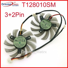 Free Shipping T128010SM 75mm DC12V 0.20A 40*40*40mm For GIGABYTE Graphics Card Cooler Cooling Fan
