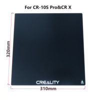 320 310mm New Creality 3D Ultrabase 3D Printer Platform Heated Bed Build Surface Glass plate for 10S pro CR X