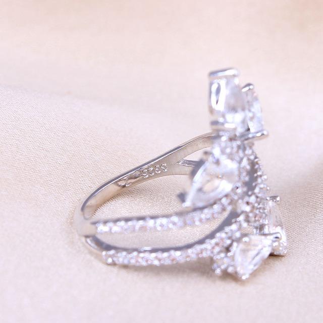 Flower Zircon Ring