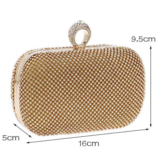 Diamond-Studded Evening Clutch Bag