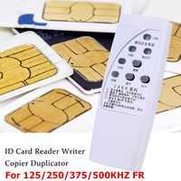 RFID ID Karte Kopierer 125/250/375/500KHz CR66 RFID Scanner Programmer Reader Writer Duplizierer Mit licht Anzeige Sensibel