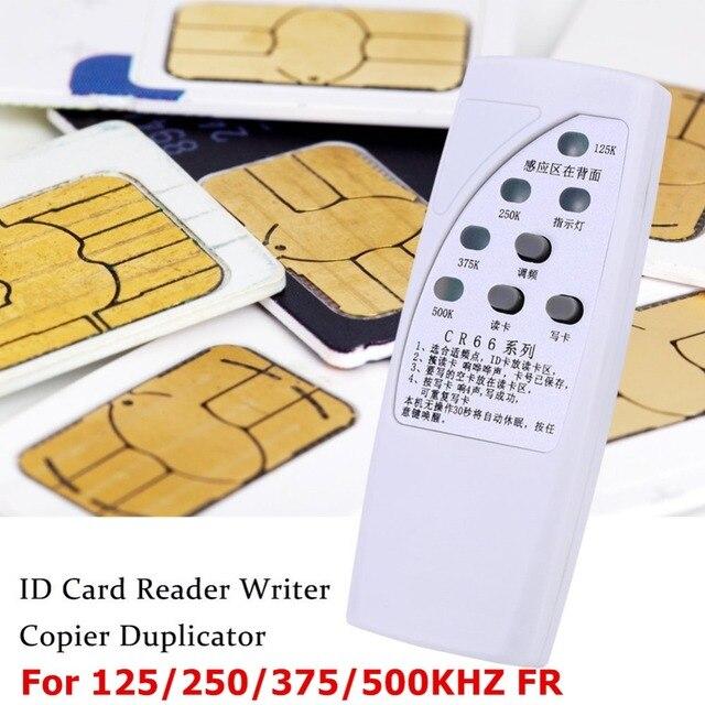 Rfid id 카드 복사기 125/250/375/500 khz cr66 rfid 스캐너 프로그래머 리더 작가 복사기 빛 표시기 민감적으로-에서컨트롤카드 리더부터 보안 & 보호 의
