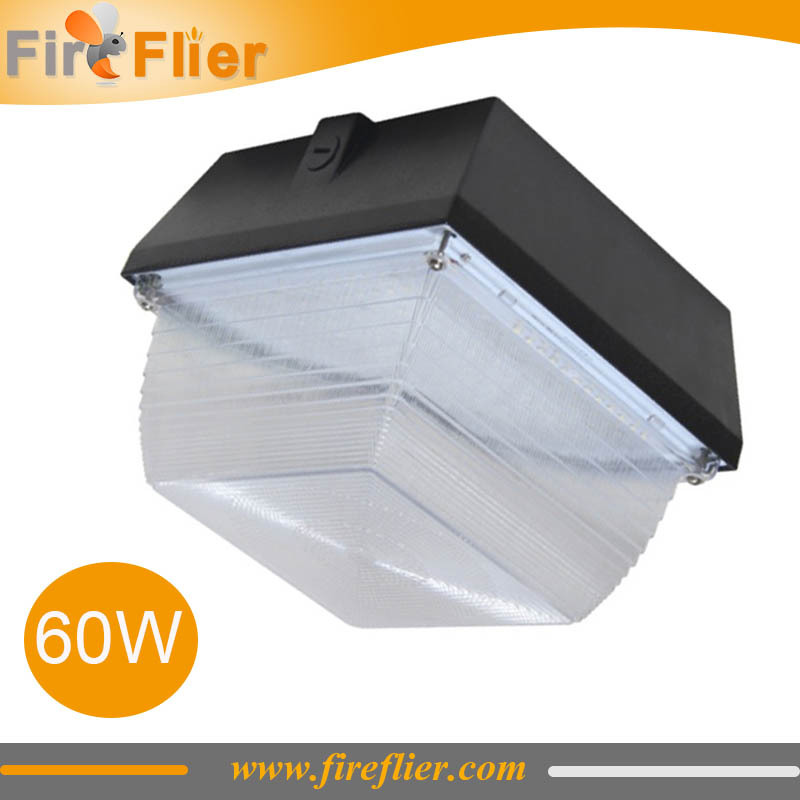 4pcs/lot 50w 60w gas station light led canopy lamp surface mounted 90w ceiling lighting garage led fixture 6000K corridor lamp