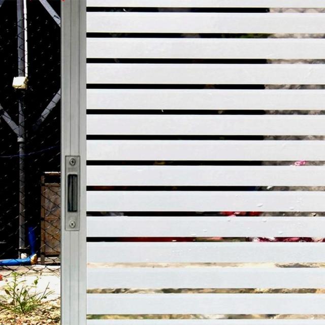 Gestreepte Zelfklevende Glas Raamsticker Film Papier PVC Behang ...