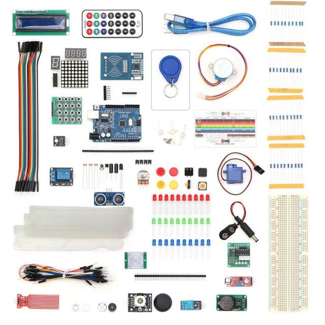 Weikedz 2017 NUOVO kit di avviamento RFID per UNO R3 Kit di apprendimento per la versione aggiornata Con regalo modulo touch