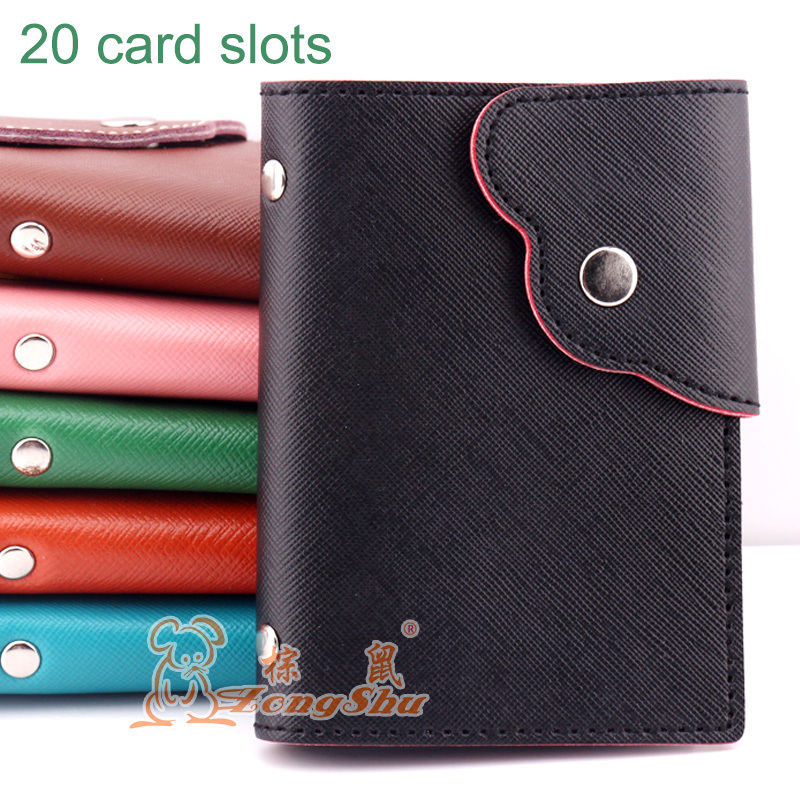 Fashion Women Card Holder PU Leather Bank Credit ID Card Holder Ladie Card Wallet Business Card Holder (custom available) 2018 pu leather unisex business card holder wallet bank credit card case id holders women cardholder porte carte card case